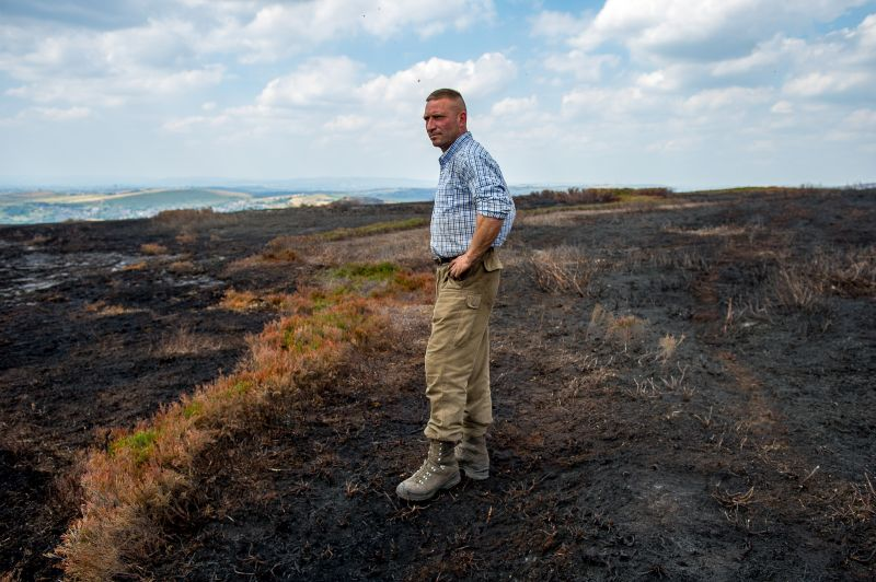 Farmers left with nothing following fire which turned farmland into a 'black desert'