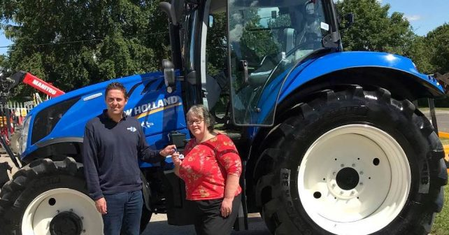 Pauline completed the journey in just 15 days in a T6.175 Dynamic Command tractor (Photo: RABI)