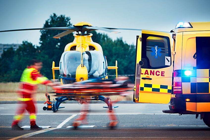 Air ambulance picks up 5-year-old boy with 'serious leg injury' from farm