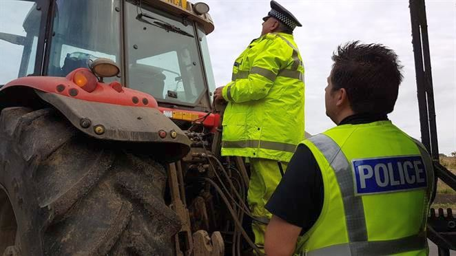 Police operation finds most agricultural vehicles have defects