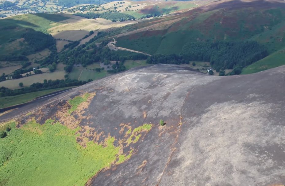 Drone footage reveals extent of wildfire damage on moorland
