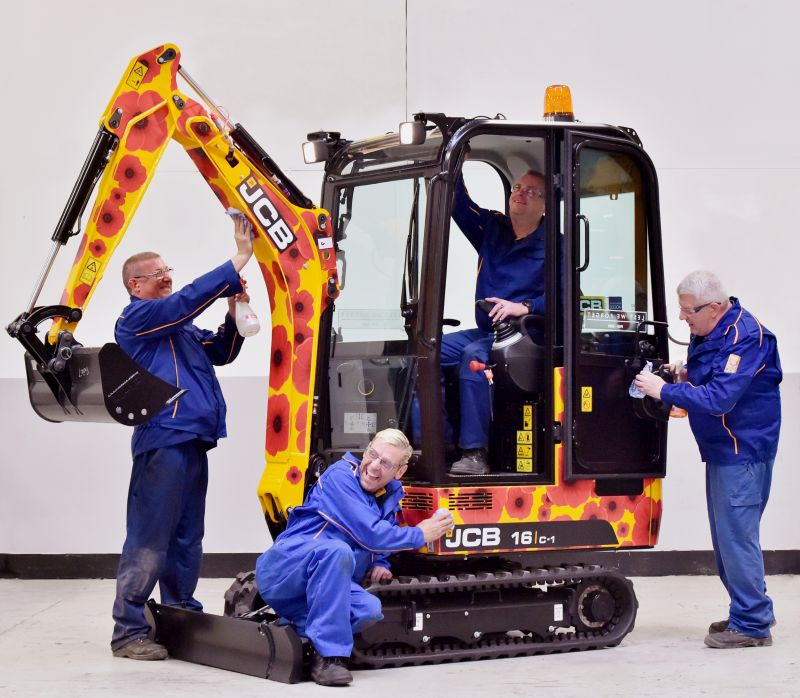 JCB to auction unique machinery to support Royal British Legion