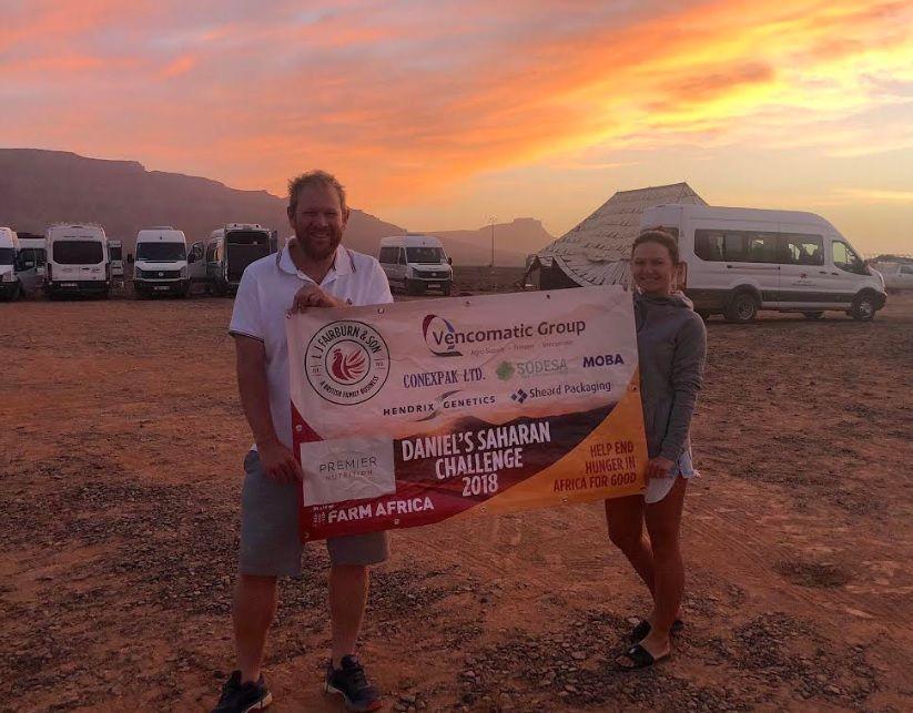 Daniel Fairburn is now halfway towards the goal of raising £45,000 for Farm Africa