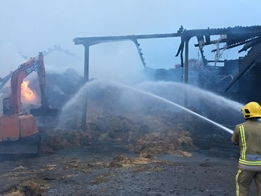 Farm blaze which burnt for three days thought to be deliberate