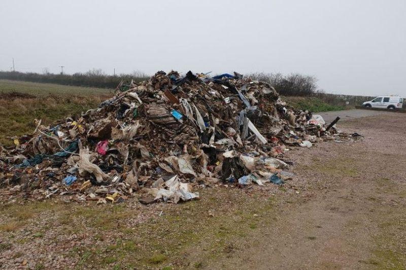 25 tonnes of waste dumped on Cambridgeshire farm
