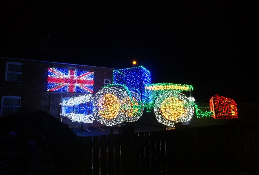 Farmer raises money for charity with festive tractor exhibition