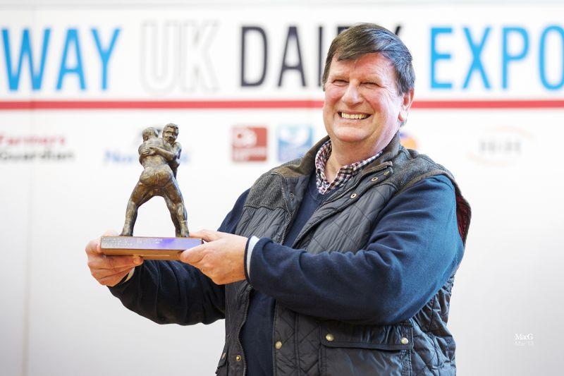 Winner of the 2018 John Dennison Lifetime Achievement Award, Jimmy Wilson from the Tregibby Herd in Cardigan