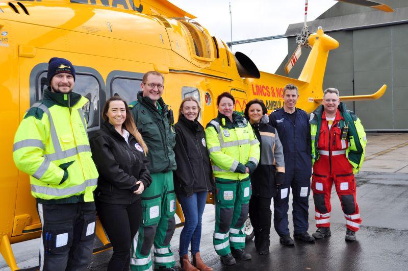 Egg farmers raise thousands for Lincs & Notts Air Ambulance service