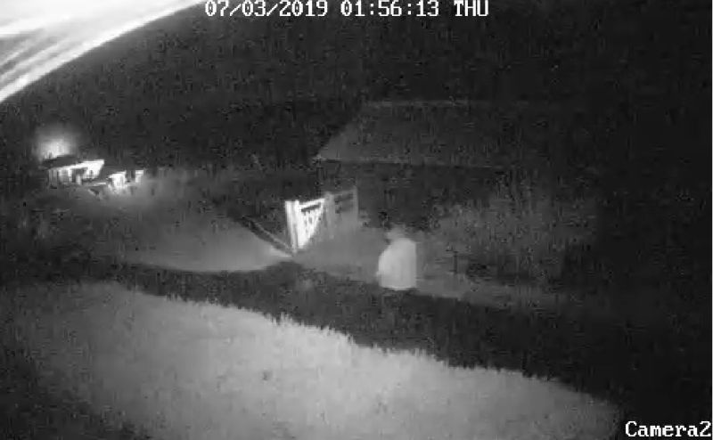A farming couple uploaded the CCTV footage on Facebook, which has been shared over 11,000 times (Photo: Johnson's Farm)