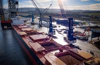 Biggest soya bean meal vessel lands in the UK - 54,000 tonnes of it