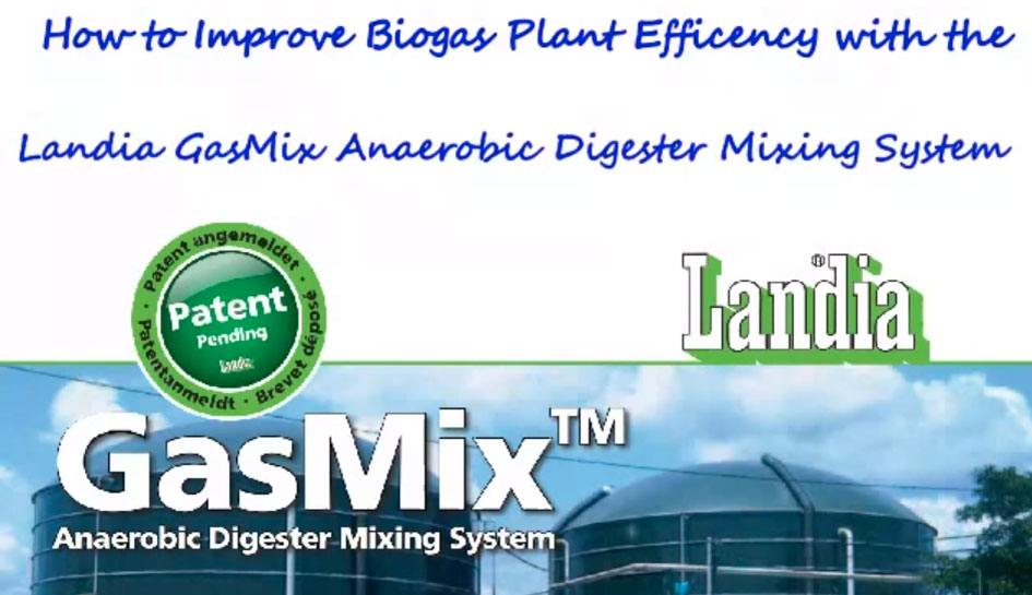 How the Landia GasMix Mixer Improves Biogas Plant Efficency