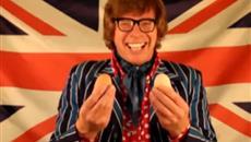 Austin Powers on Free Range Eggs