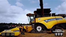 New Holland CR10.90 combine Guinness World Records attempt