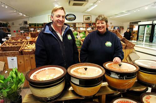 Steve and Heather Tucker of White Row Farm Shop