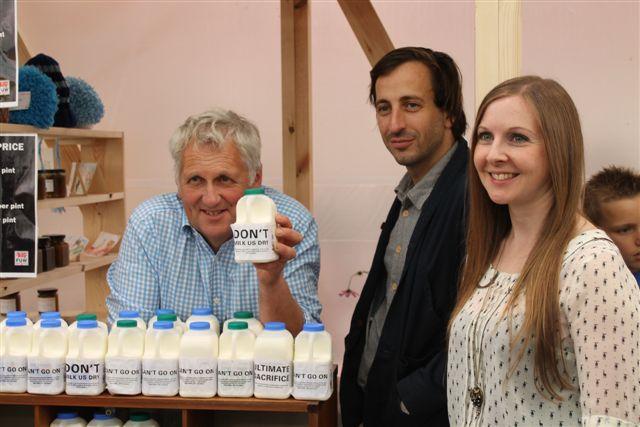 Milk Bar: From left, Glyn Roberts, Fernando García-Dory and Hazel Wright.
