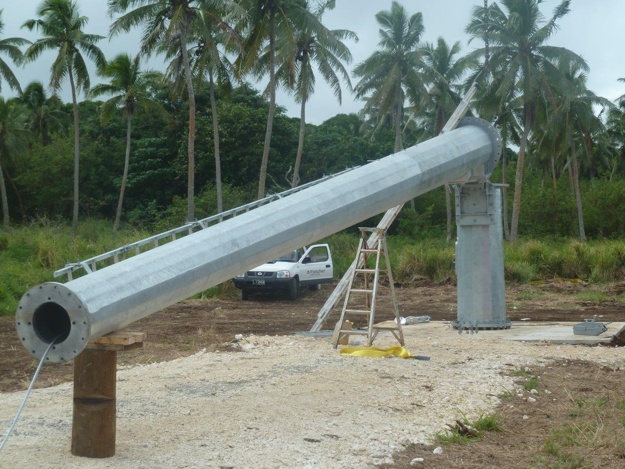 •The Gaia-Wind turbine at palm tree height, is designed to be in scale with its environment