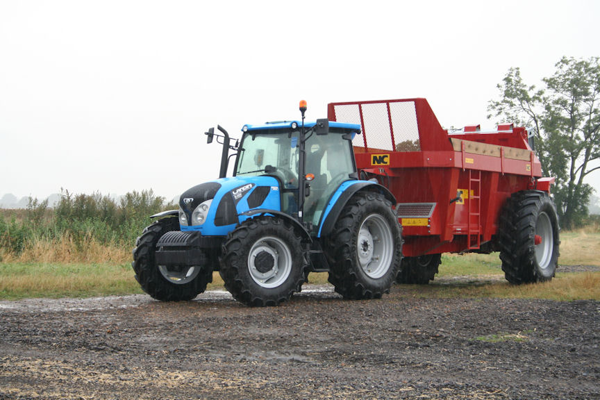 The four-model Landini 5-H T4i tractor range has power outputs from 85-113hp with electronic fuel injection control.