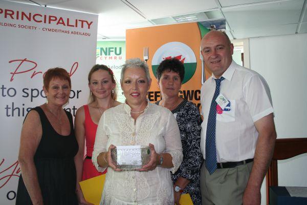 L-R  Pat Ashman, Principality; Maureen, Eleri, Meinir and John Davies, NFU Cymru