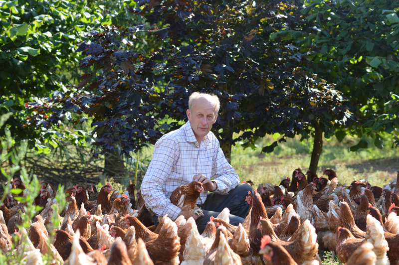 Trevor Sellers from Belton Poultry in Leicestershire has planted more than 3,500 trees in the past 11 years