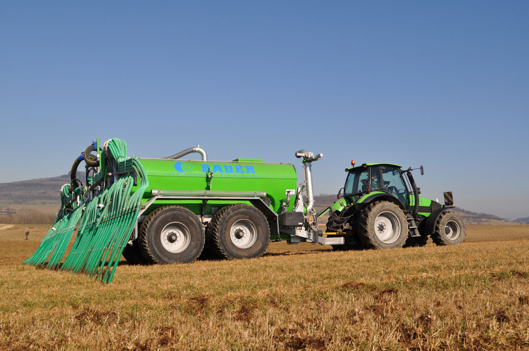 Bauer slurry and digestate spreaders with a low-profile, corrosion-free polyester tank will be at LAMMA.