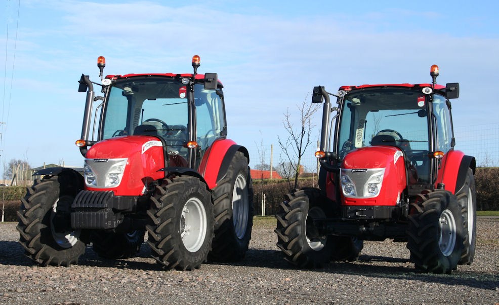 Smaller X4 tractors have a shorter wheelbase and overall length.