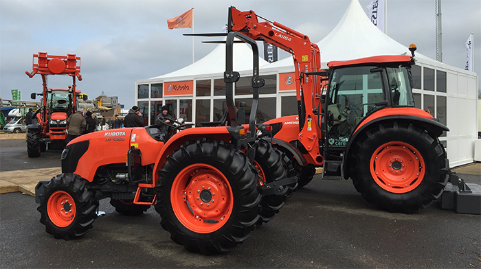 kubota 39 s mk5000 tractor unveiled at lamma farming uk news. Black Bedroom Furniture Sets. Home Design Ideas