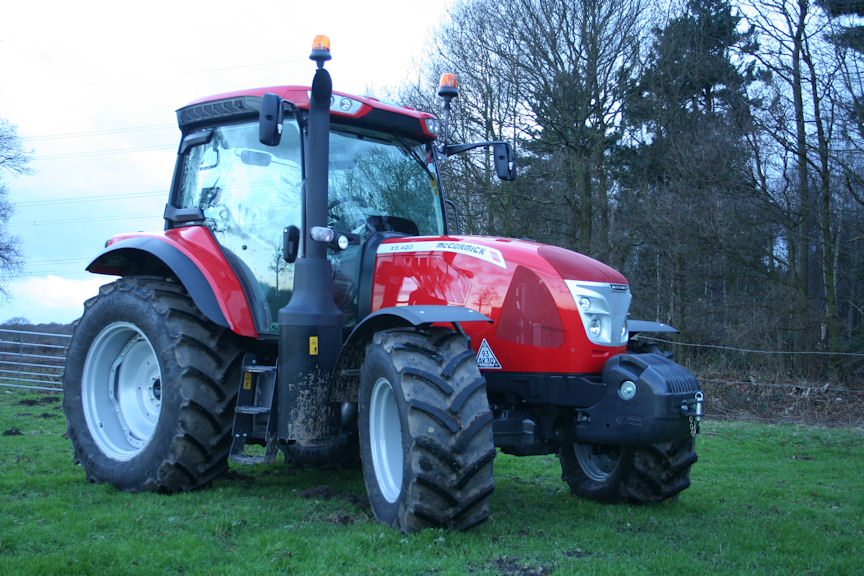 The new tractor will perform routine field and yard duties on the farm.