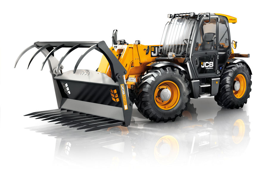 Subtle - discreet decals are among clues to the new JCB Loadall Tier 4 Final spec.