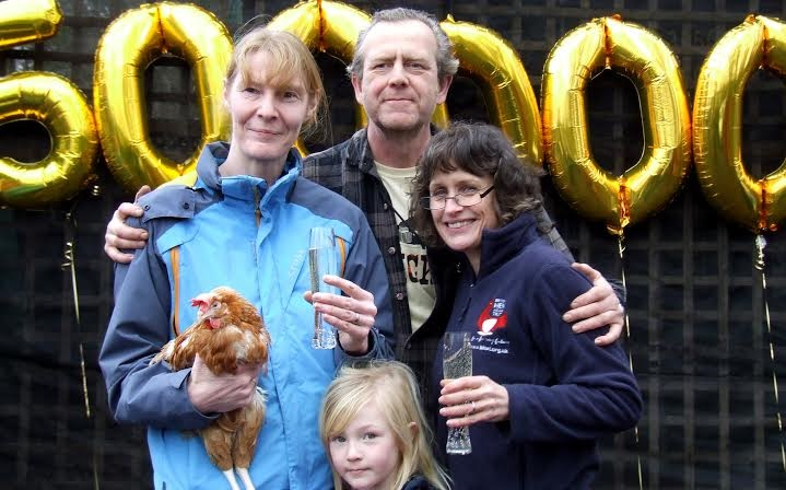 'Dee', so-called because 'D' represents 500 in roman numerals, became the half a millionth hen to be saved from slaughter