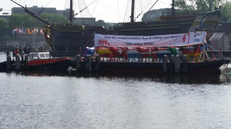 Protest action in Amsterdam, Netherlands