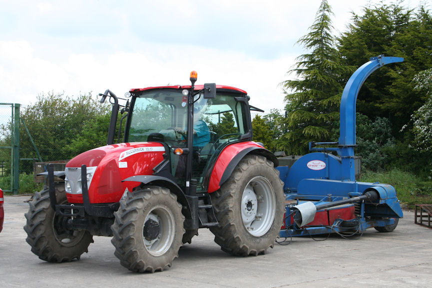 A Zero mower for harvesting fresh grass is operated by the new McCormick.