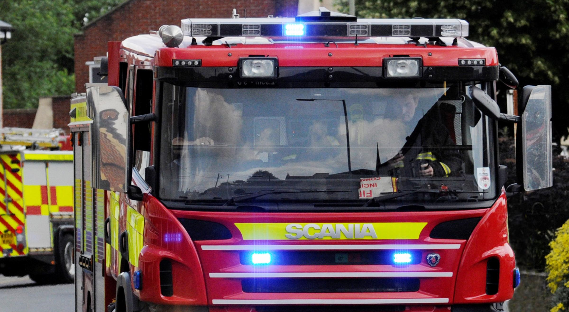 Dorset & Wiltshire Fire and Rescue Service was called to the farm in Brick Hill at 8.55pm