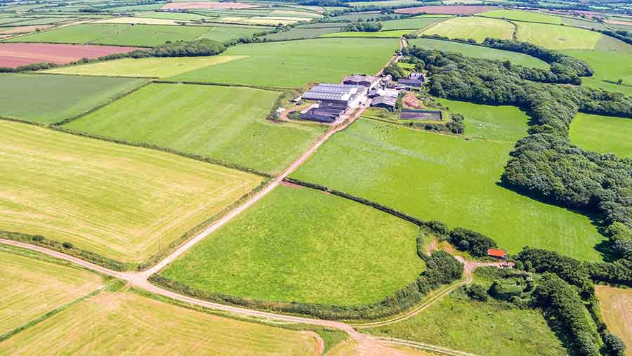 Corston Farm, a dairy farm with 483 acres and a price tag of £3.8m