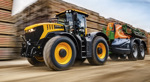 New Fastrac 8330 tops the power stakes at 348hp.