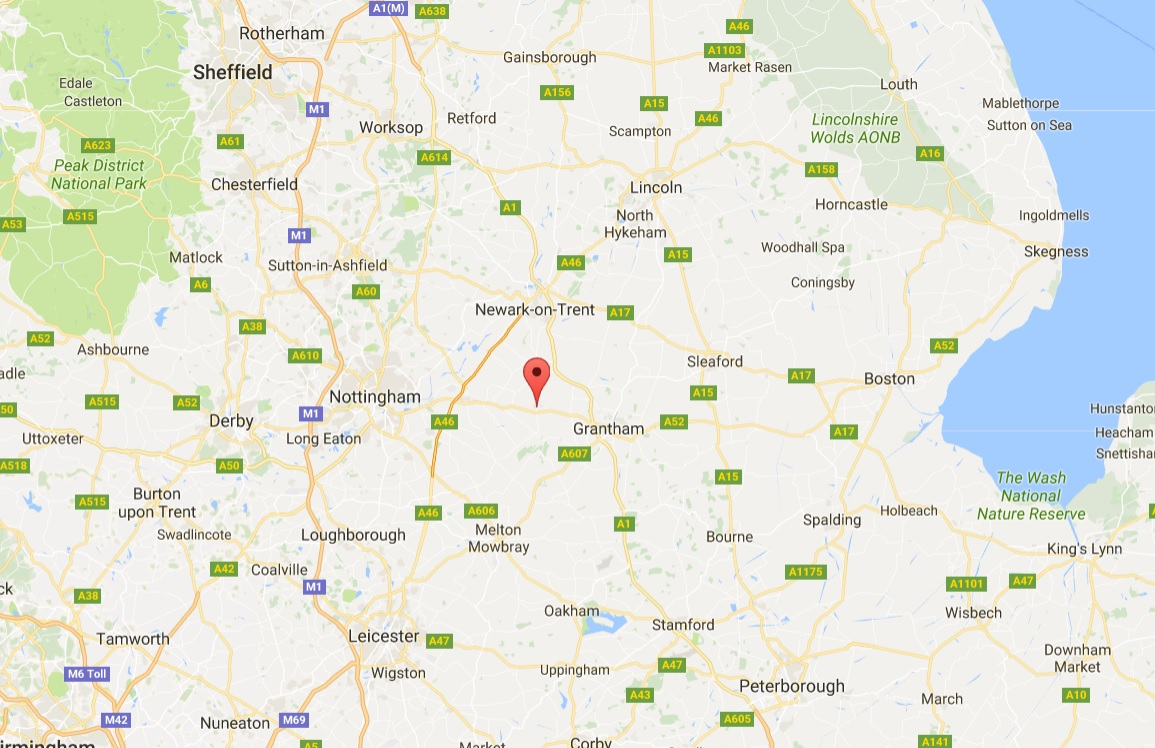 The two men died on a farm near Bottesford, north-east Leicestershire (Photo: Google Maps)