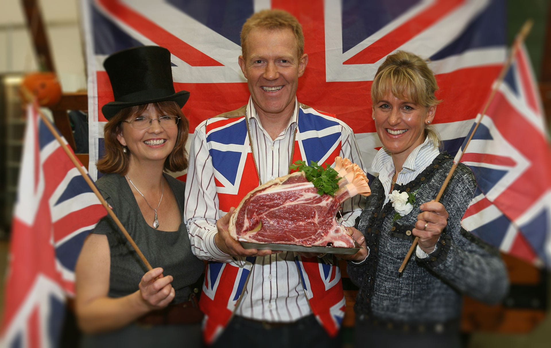 The week is designed to garner up support for British beef (Photo L-R, Jilly Greed, Adam Henson and Minette Batters)