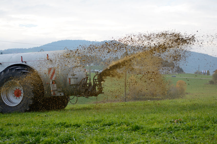 The farmer poured his slurry onto a field full of illegal ravers (Stock photo)