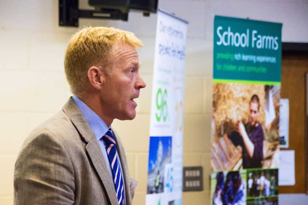Adam Henson, TV presenter and Director of Cotswold Farm Park, spoke at the conference