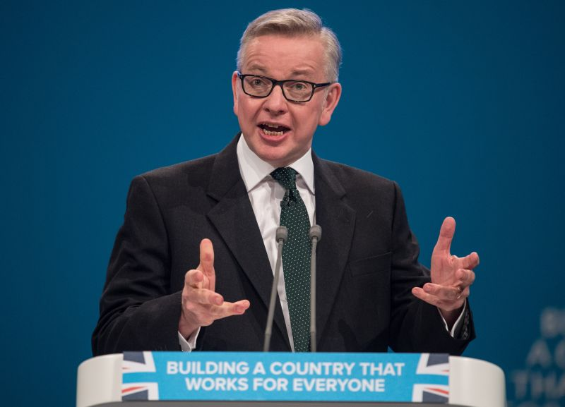 """Gove said the UK will be a """"beacon of higher animal welfare and environmental standard"""" post-Brexit"""