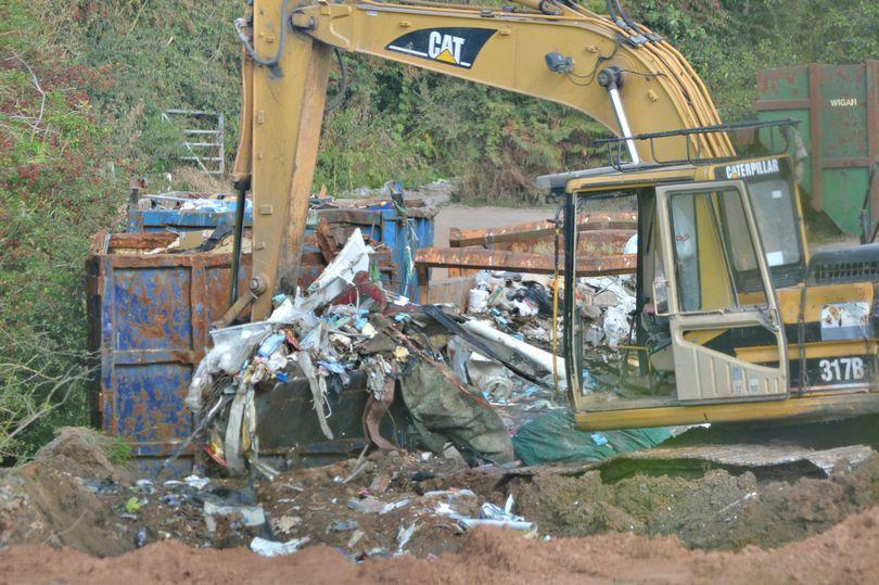 Tens of thousands of tonnes of waste were dumped in Cheshire (Photo: Environment Agency)