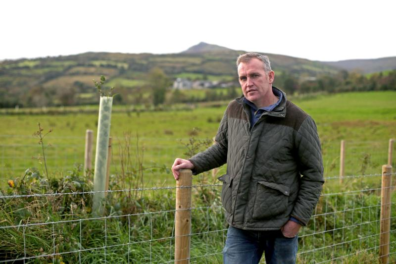 Paddy McSparron, a sheep and cattle farmer in Glendun, was one of the first to get planting underway