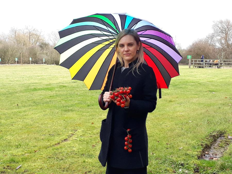 Vera Valujeva from Evesham Vale Growers is just one of many food producers in Worcestershire campaigning for people to buy local