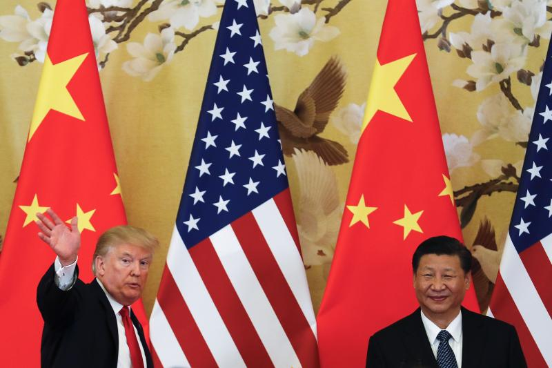 US President Donald Trump and China's President Xi Jinping are engaging in an escalating trade dispute (Andy Wong/AP/REX)