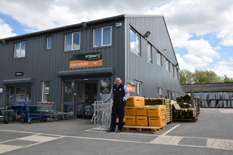 Dave Taylor, StowAg head buyer, outside the StowAg store in Longborough