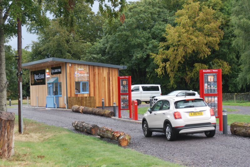 It is believed to be the first drive-thru, set up on a farm, in the UK