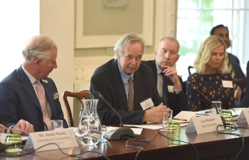 Lord Peter Melchett (middle) held the position of Policy Director at the Soil Association since 2002 up until his death