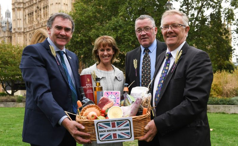 The office holders of the four farming unions showcase their nations produce (Photo: NFU)