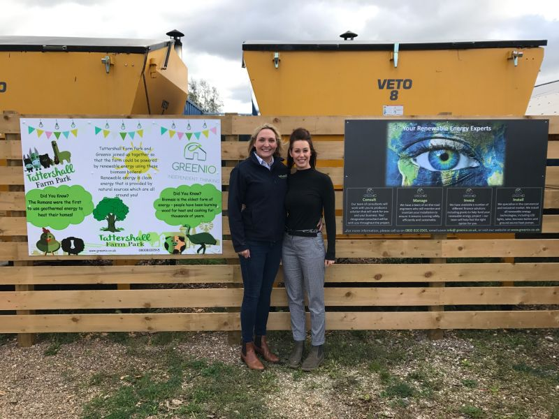 Greenio's Anna Wooster (right) pictured with Marie Morrell of Tattershall Farm Park