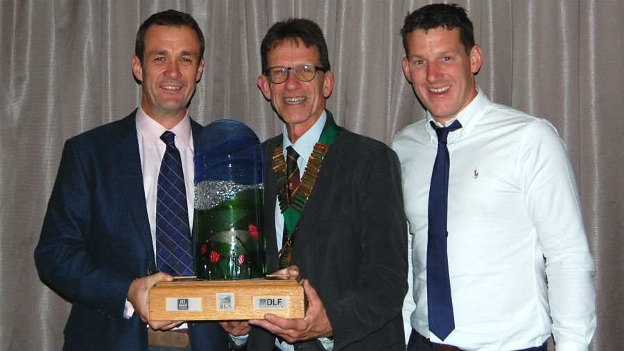 Dairy farmer Richard Rogers of Tre Ifan Farm (left) has won the BGS Grassland Farmer of the Year competition for 2018