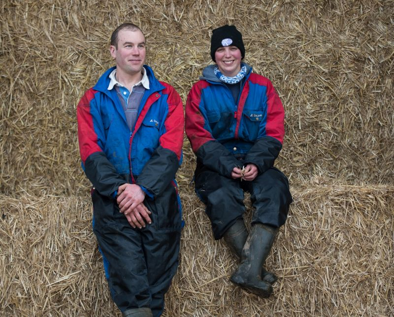 The brother and sister farming duo farm 280 acres near Bromyard in Herefordshire